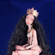 Esther - ooak bjd, hand sculpted from po