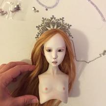 #crown #bjd #gothic #art #doll #dolls #h