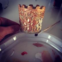 Making the #crown #bjd #gothic #art #dol