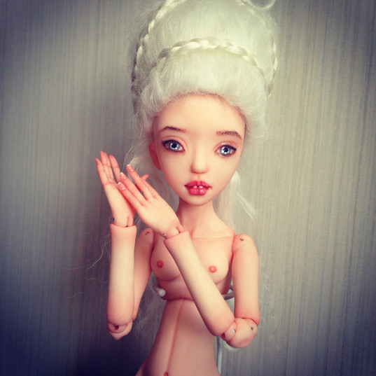 Elza- one of a kind hand sculpted doll.j