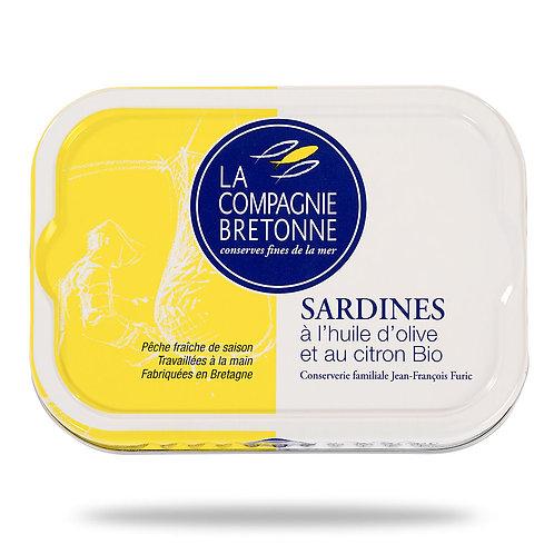 Sardines à l'huile d'olive et au citron bio