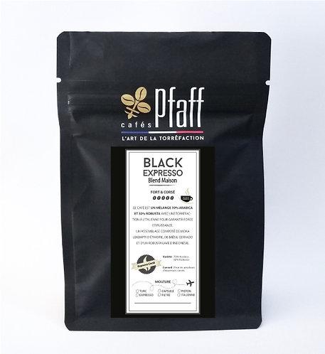 Café en grain blend maison black expresso 250g