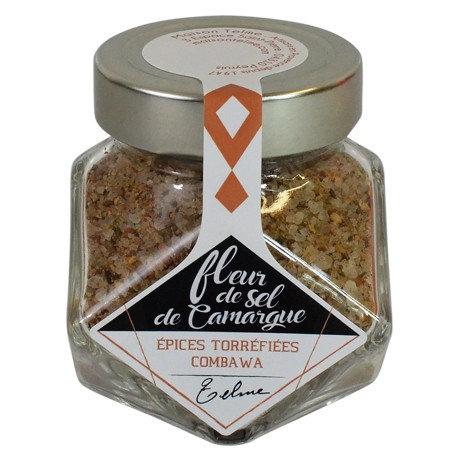 Fleur de sel de Camargue aux épices torréfiées Combawa
