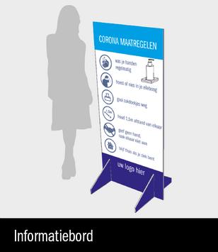 Informatiebord met richtlijnen voor in je inkomhal