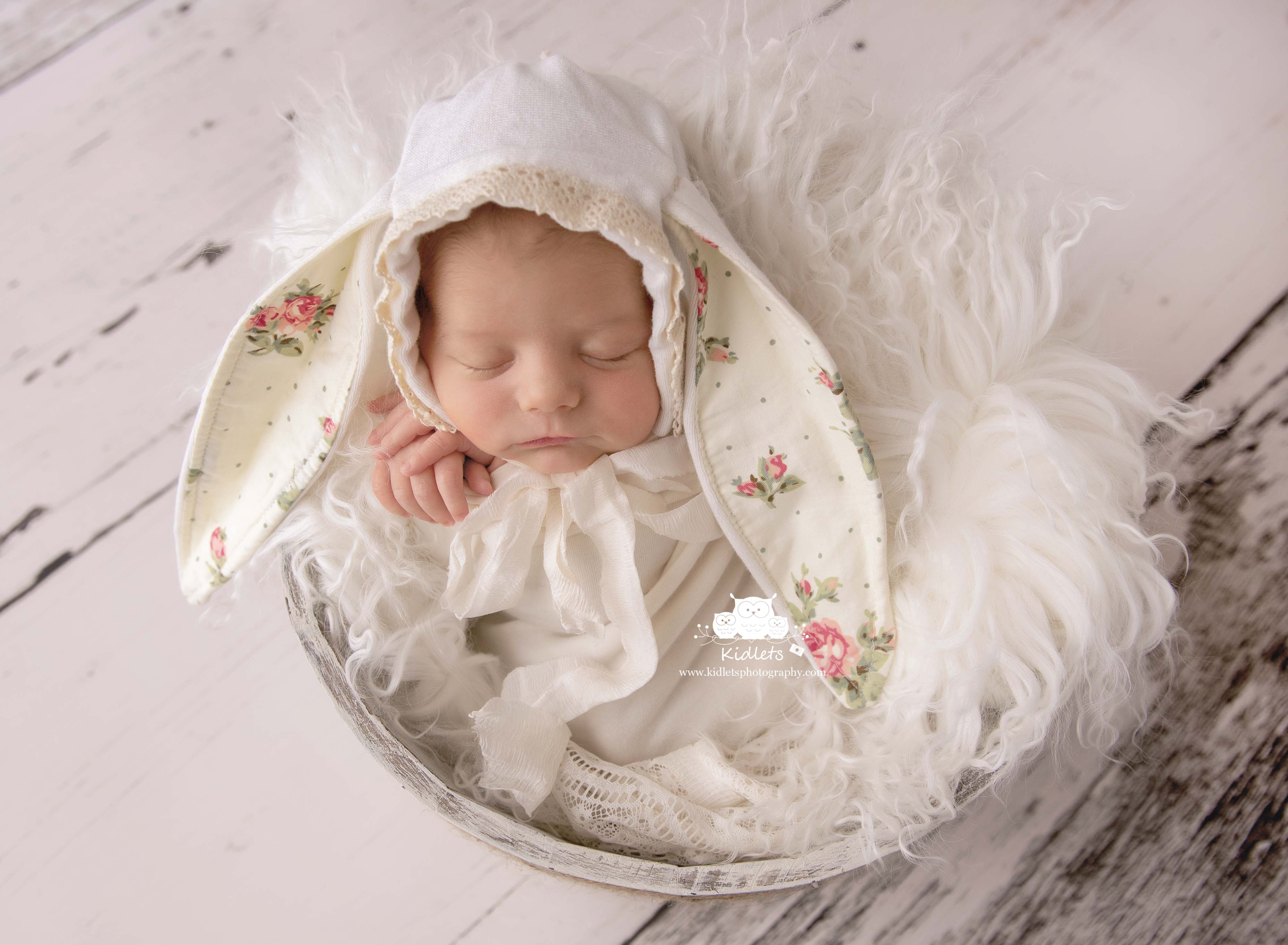 Newborn Session baby bunny