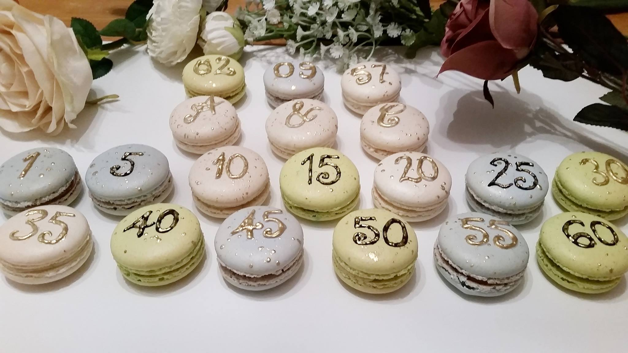 Personalised macarons