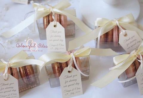 Individually, beautifully boxed Macarons
