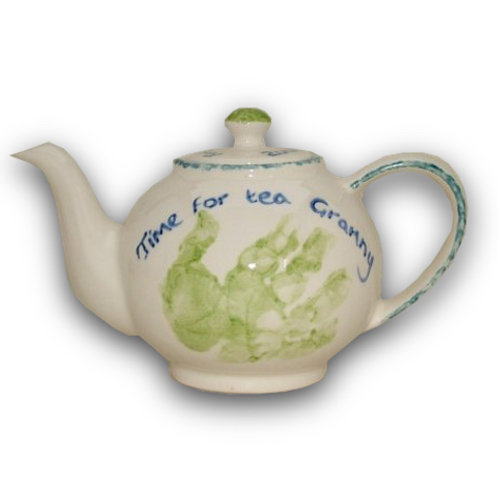 Teapot: Hand and Footprint