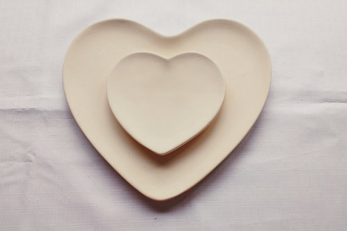 Heart Plate: Paint it Yourself Kit!