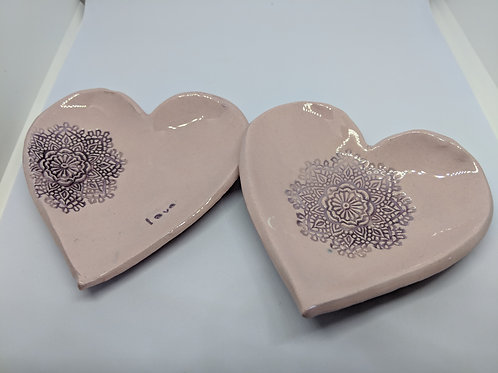 Heart shaped trinket dishes