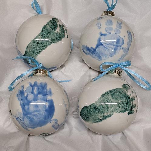 Baby Christmas Bauble First Footprint / Handprint
