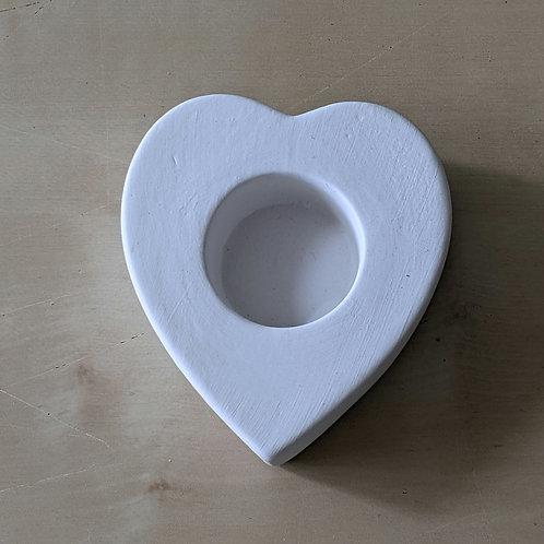 Heart Shaped tealight holder : Paint it Yourself Kit!