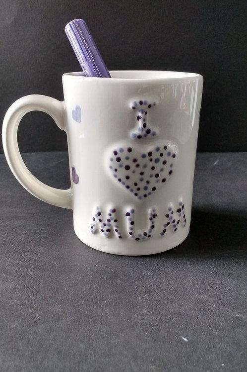 'I love mum' mug
