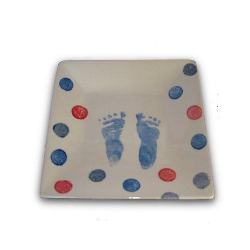 Square Plate: Handprint / Footprint Kit
