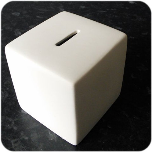 Cube Money-Box: Paint it Yourself Kit!
