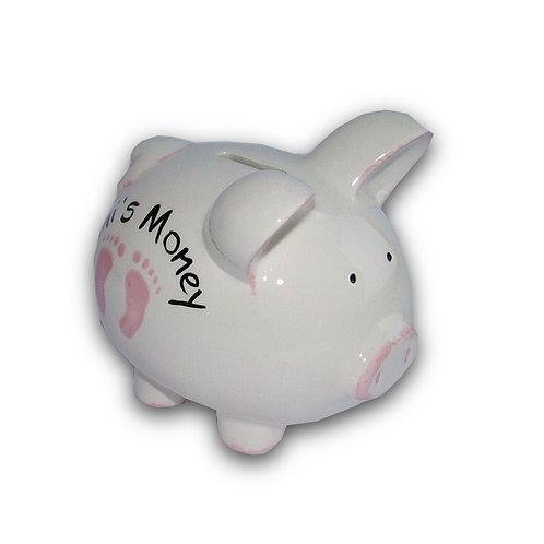 Baby Footprints Piggy Bank