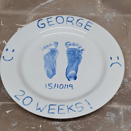 Round Plate: Hand and Footprint Kit