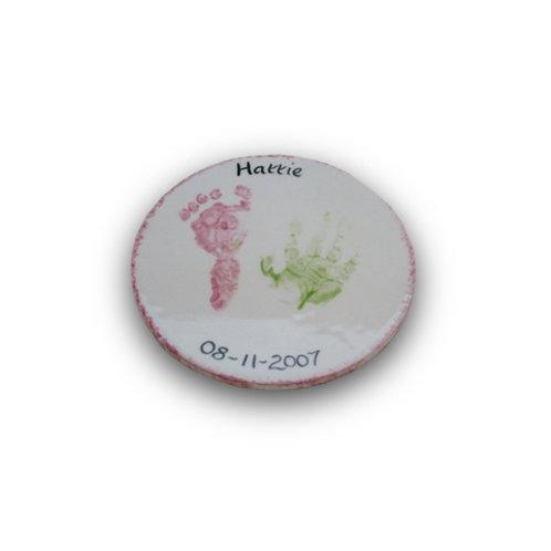 Round Coaster: Hand and Footprint Kit