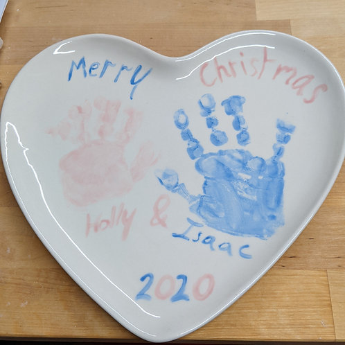 Heart Plate: Hand and Footprint Kit