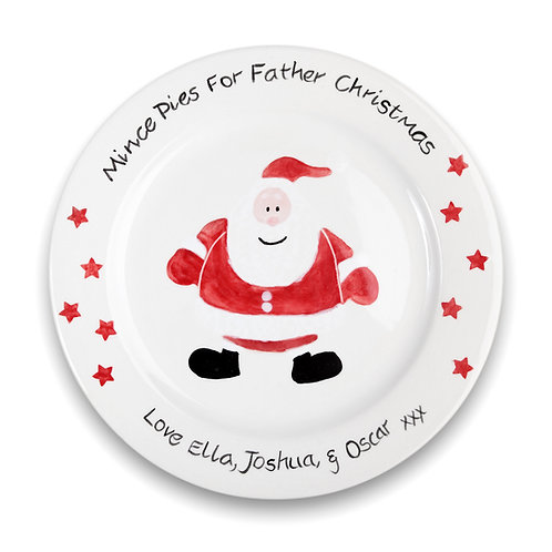 Personalised Father Christmas Plate