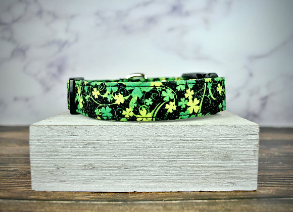 St. Patrick's Day - Black with Green and Yellow Clovers