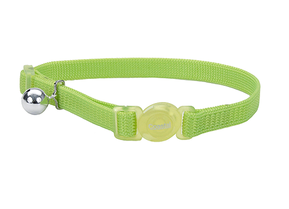 Coastal Adjustable Safe Collar   Lime Green