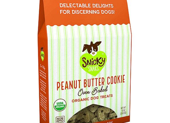 Snicky Snaks - Peanut Butter Cookie 10oz - Baked Organic Treats