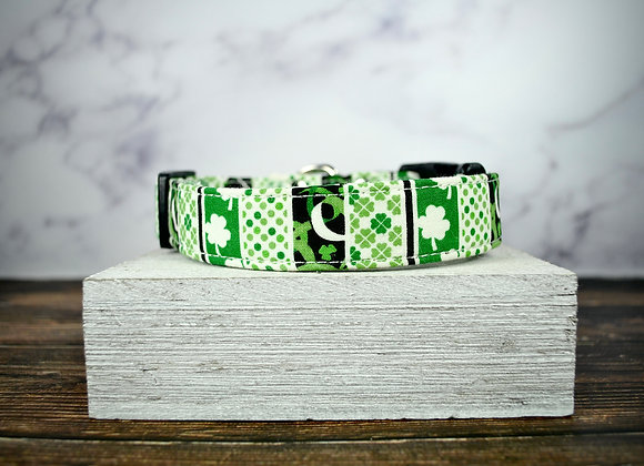 St. Patrick's Day - White with Black and Green Pattern