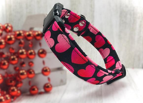 Love & Hearts Valentines Day Dog Collar