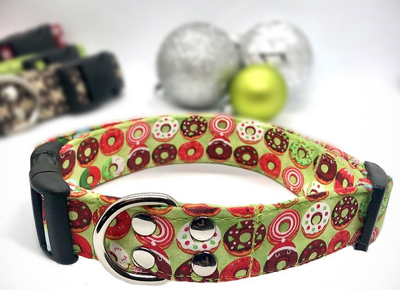 Christmas Donuts! Fabric Dog Collar
