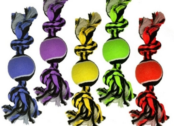 2-Knot Rope w/Ball - 10 inch | Nuts for Knots!