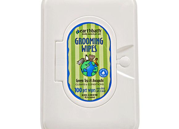 Earthbath Grooming Wipes   Green Tea - 100ct