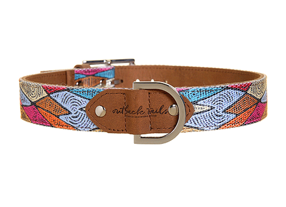 Outback Tails Leather Dog Collar | Sand Dunes