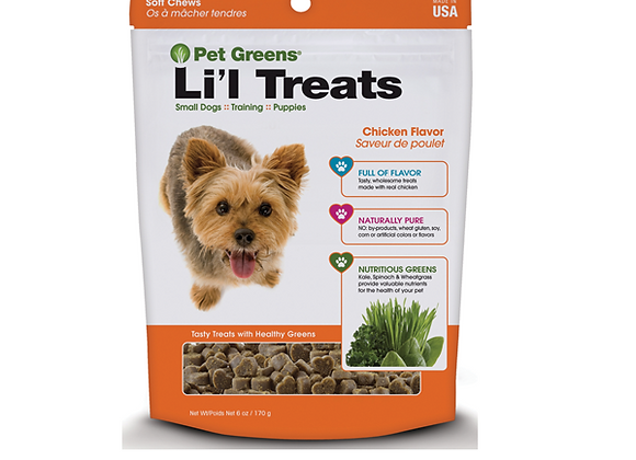 Li'l Treats - Pet Greens Training Treats-  - Roasted Chicken