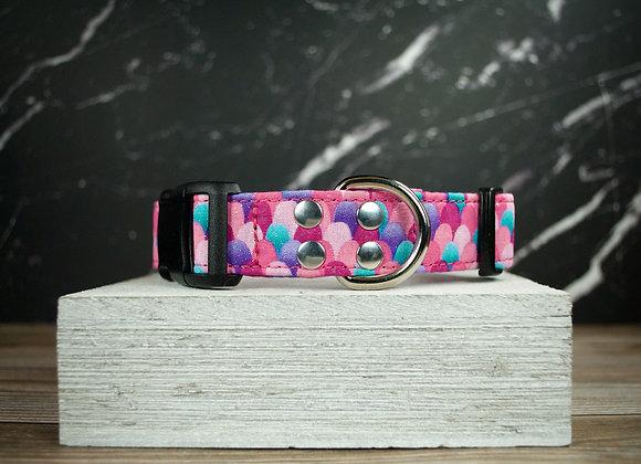 Pink Mermaid Scales Dog Collar