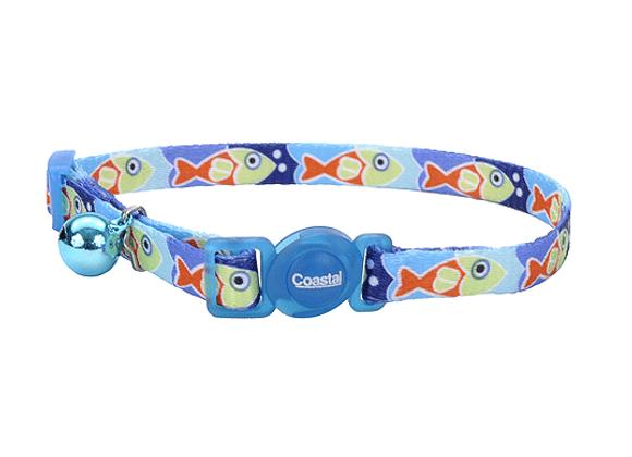 Coastal Adjustable Safe Collar   Blue Fish