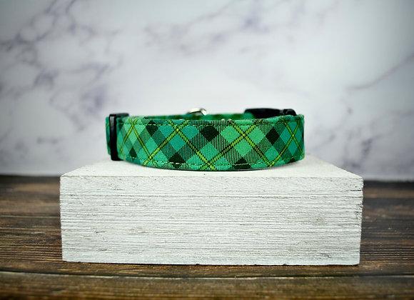 St. Patrick's Day - Green Plaid Collar