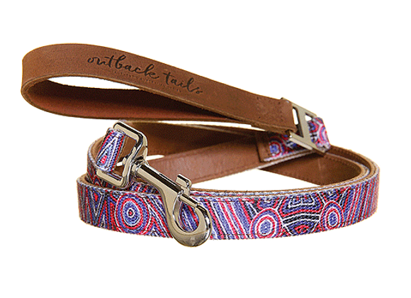 Outback Tails Leather Dog Lead | Digging Truffles