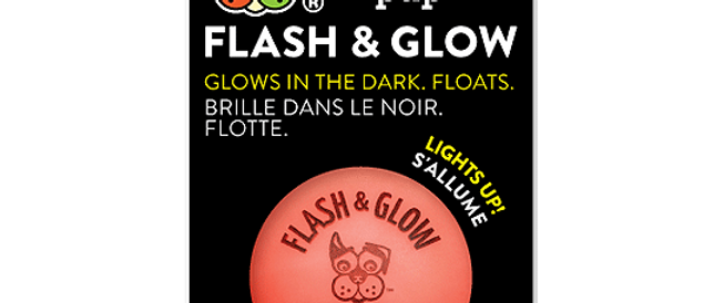 Spunky Pup - Fetch & Glow Ball | Red