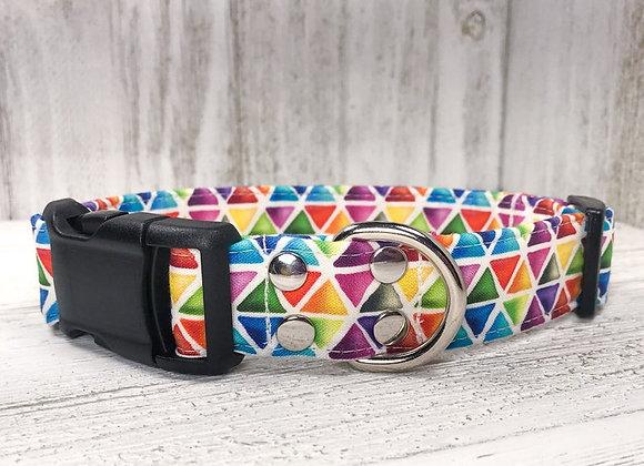 Geometric Rainbow Collar