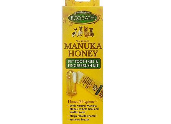 Manuka Honey Pet Tooth Gel & Finger Toothbrush Kit