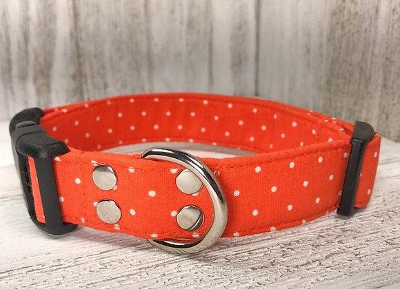 Orange Polka Dot Dog Collar