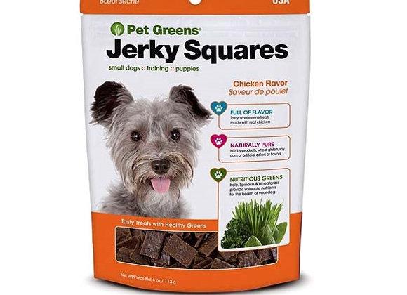 Jerky Squares - Pet Greens Training Treats-  - Chicken
