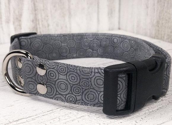 Grey Swirls Dog Collar