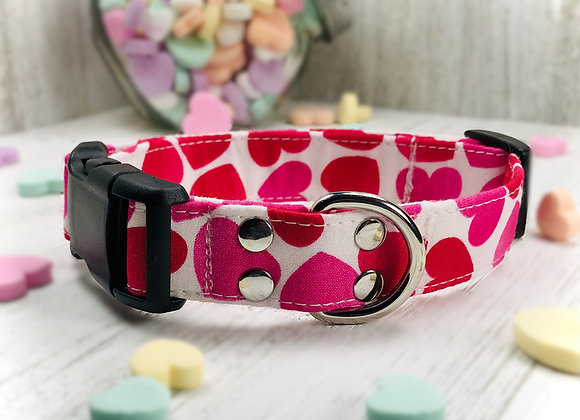 Love & Hearts Valentines Day Dog Collar