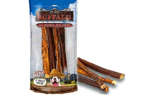 Pure Buffalo Bully Sticks - 4 Pack - 9 in