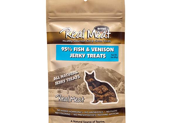 Real Meat Cat Treats | Fish & Venison 3oz