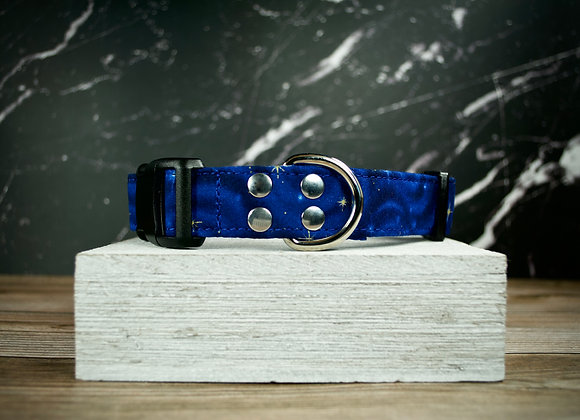 Stars and Swirls Dog Collar | Royal Blue