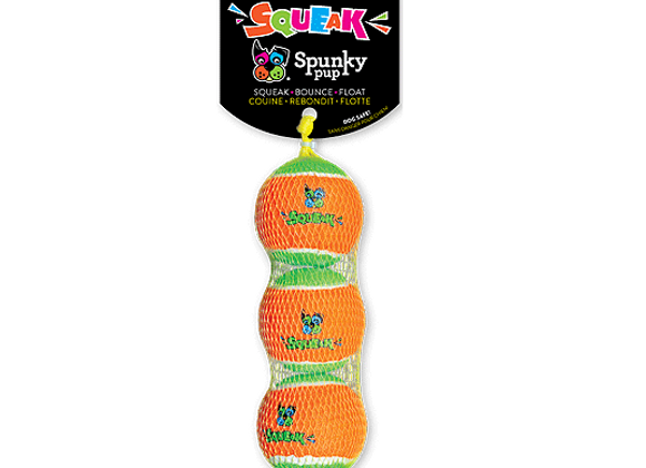 Squeaky Tennis Balls - Spunky Pup