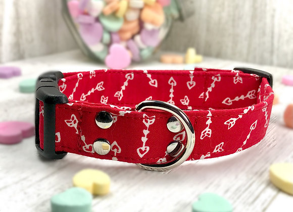 Cupid's Arrow Red Valentines Day Dog Collar